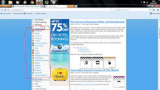 Cara mengubah gambar icon mouse di blog
