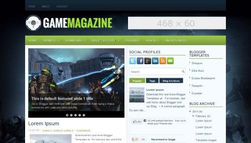 Download Template Magazine | Game Magazine