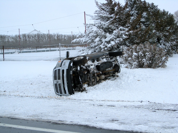 Charming Overturned Vehicle Near Garden City, KS
