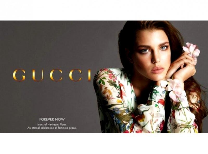 Modella Flora Gucci pubblicita