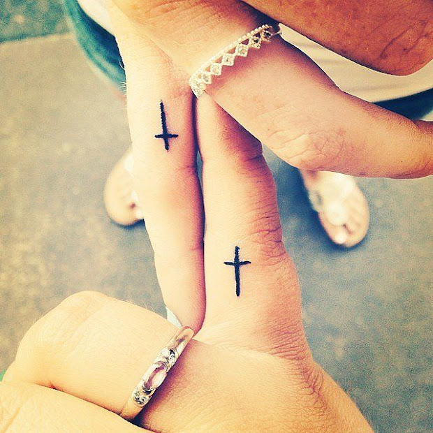 20 Christan Small Matching Tattoos Ideas And Designs