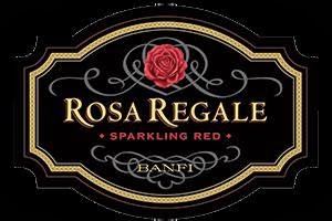label of Rosa Regale sparkling red wine