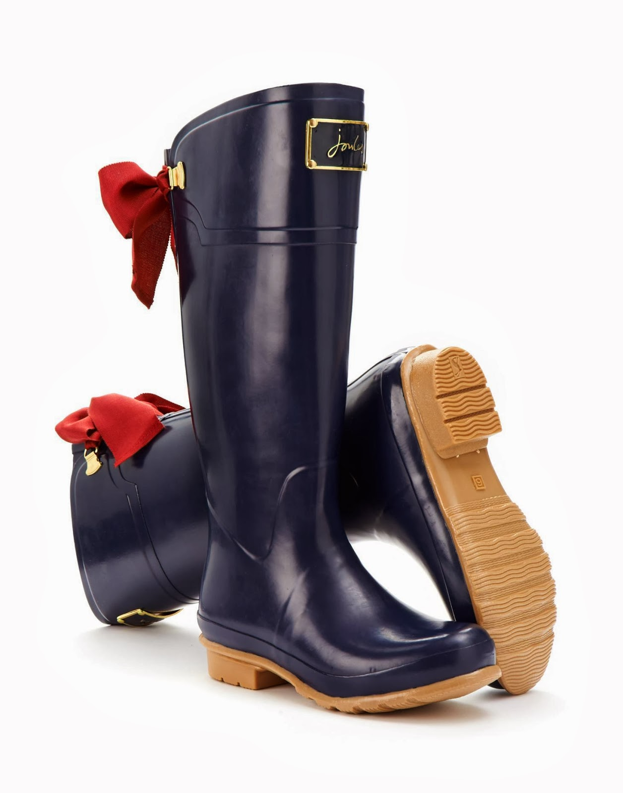 Joules bow wellies