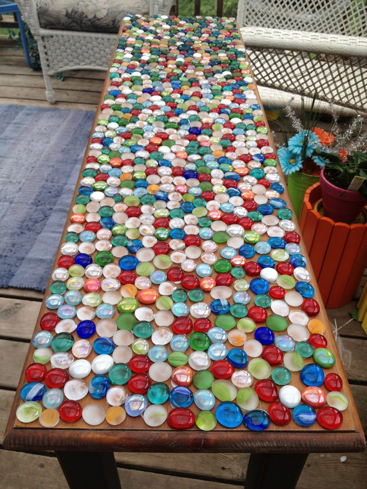 junk mail gems diy marble mosaic table top