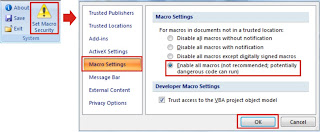 Mengatur Macro Security Excel