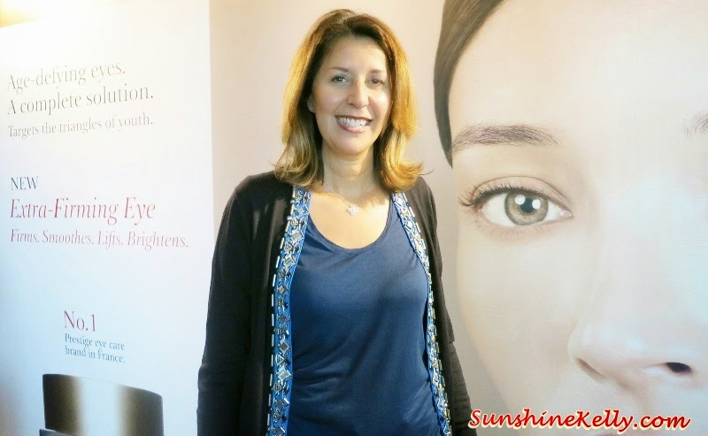 Nathalie Issachar, Clarins R&D Director, Clarins Extra Firming Eye Complete Rejuvenating Cream Review, Beauty Review, anti aging eye cream, anti aging, clarins, Clarins Double Serum, Clarins Extra-Firming Day Cream, Clarins Extra-Firming Night Cream