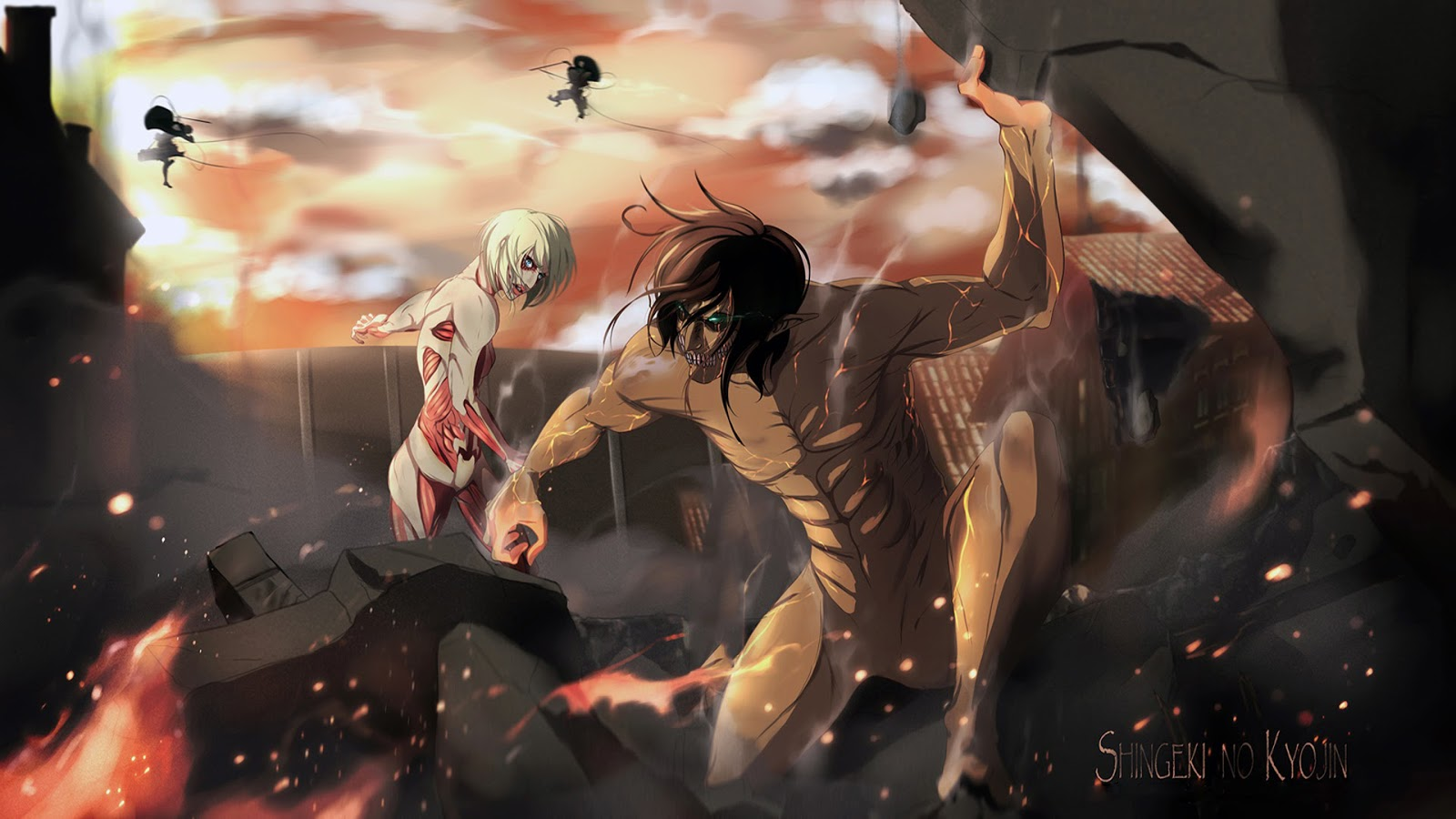 Download Attack On Titan HD Wallpaper Pack