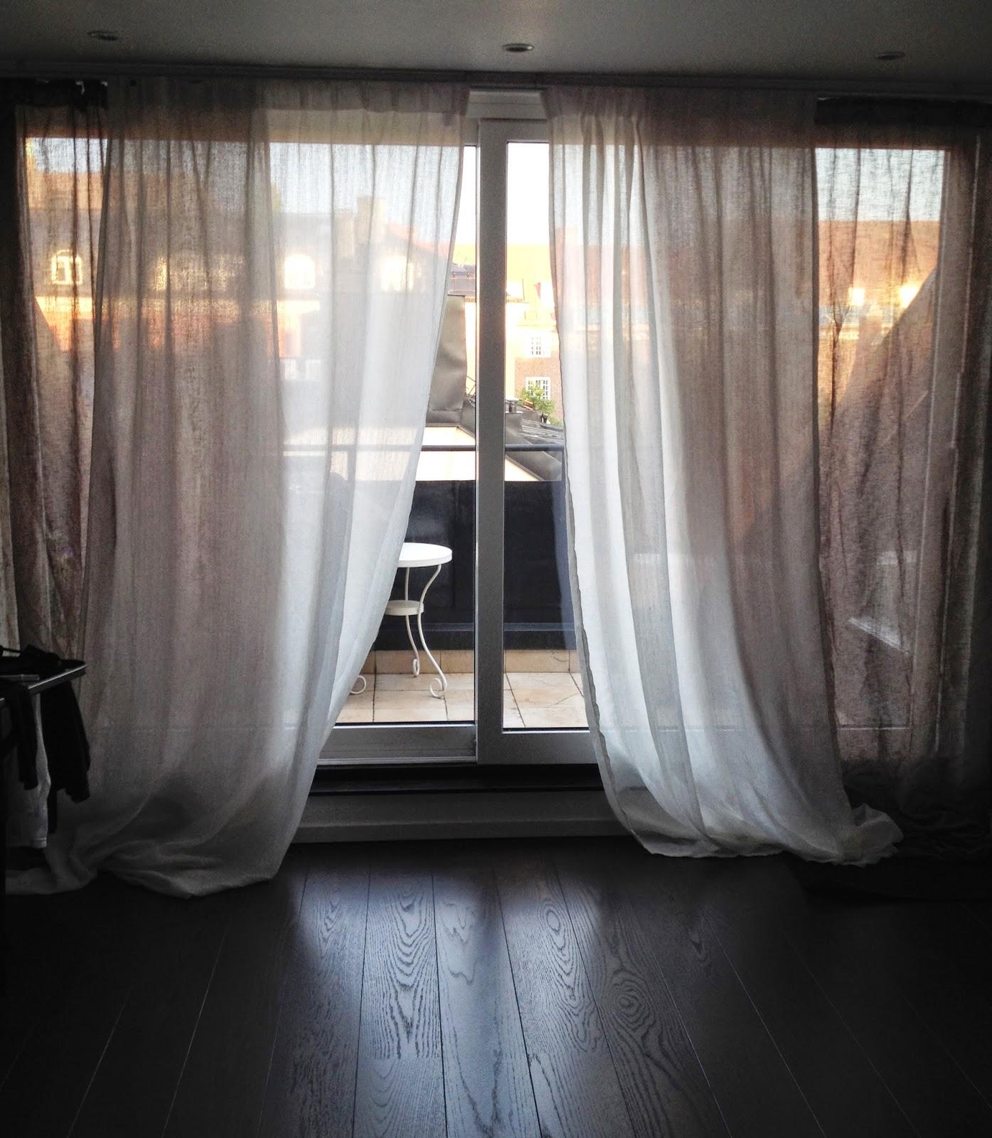 Pyssel& Inspiration Hänga gardiner på gardinskena Kvartal från Ikea