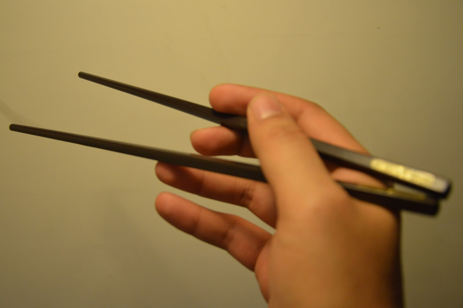 holding the chopsticks