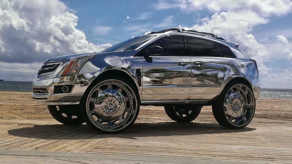 Cadillac Srx All Chromed Riding On 32s Donk All Cars New Zealand