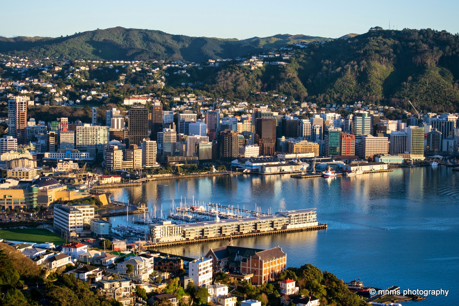 Wellington on a good day reflecting the sun