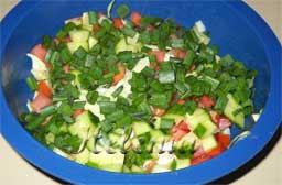как приготовить салат из овощей