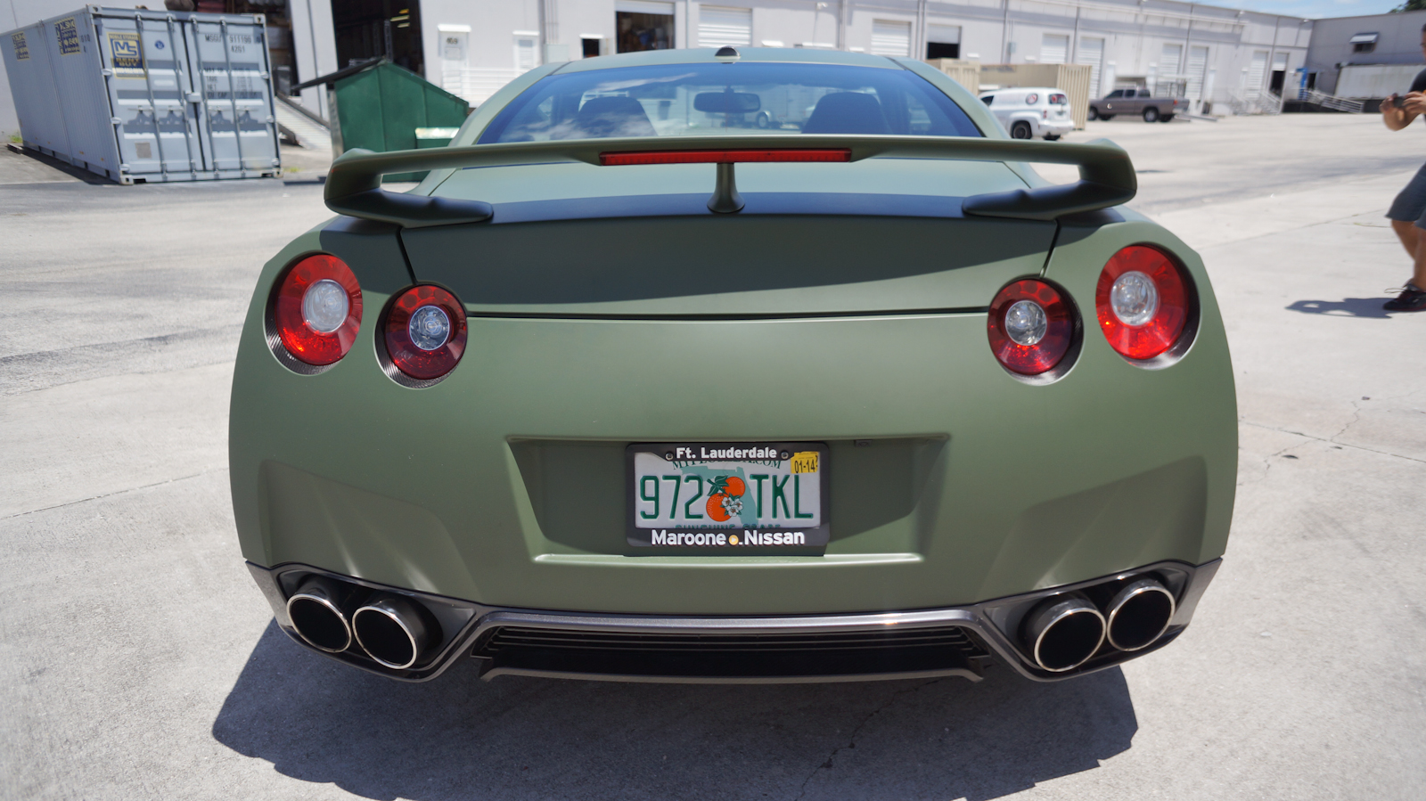 Nissan GTR Custom Matte Car Wrap Miami Florida