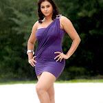Namitha in Violet Dress Photos