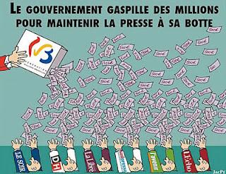 Les subsides de la presse belgique