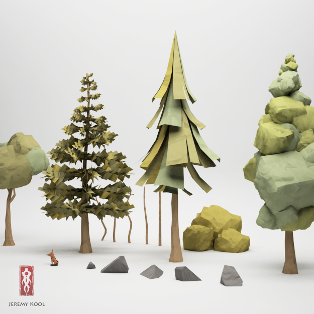3d Origami Christmas Tree Today I Want To Share 3d: The Paper Fox Project: Object Palette