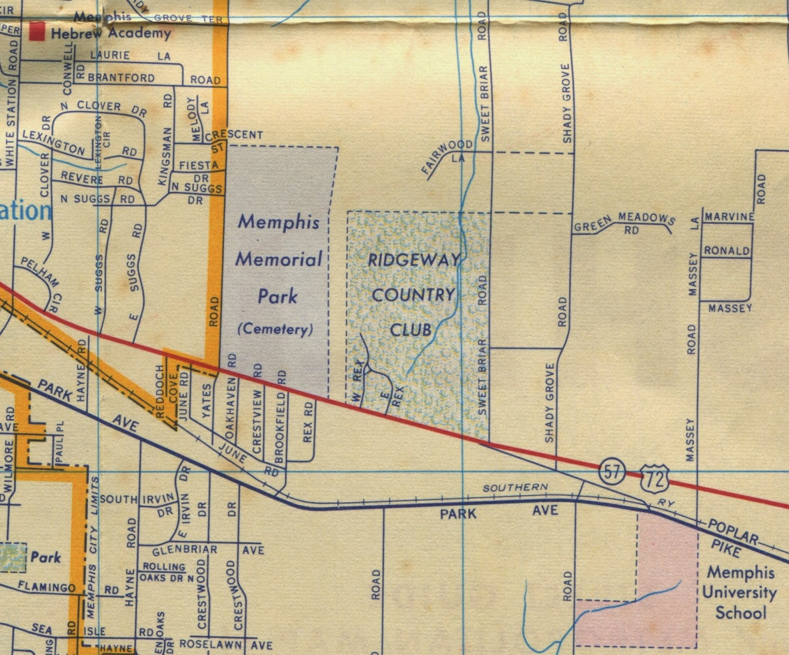 this map drawn by the h m gousha co for shell oil in 1958 shows that even then memorial park was still at the edge of the city the city s boundary is