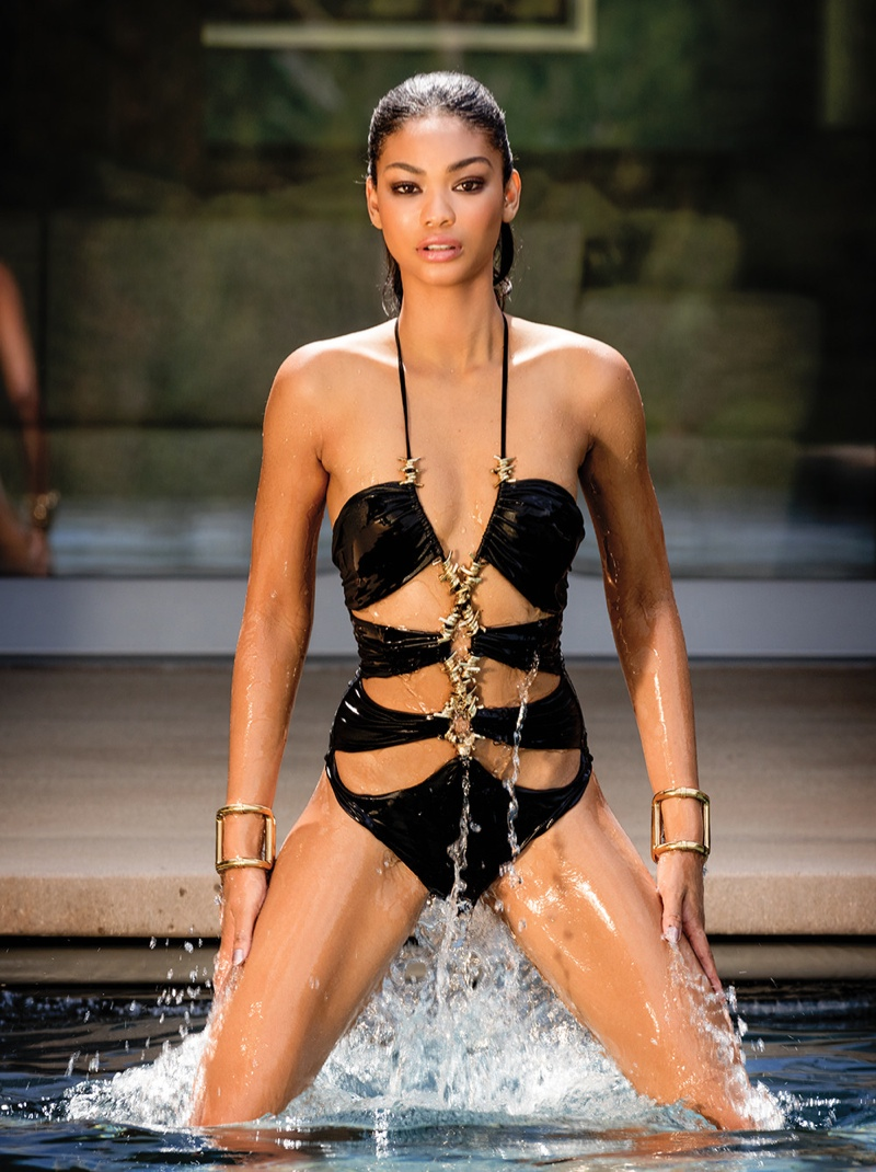 Chanel Iman wears swim looks for C Magazine Summer 2015