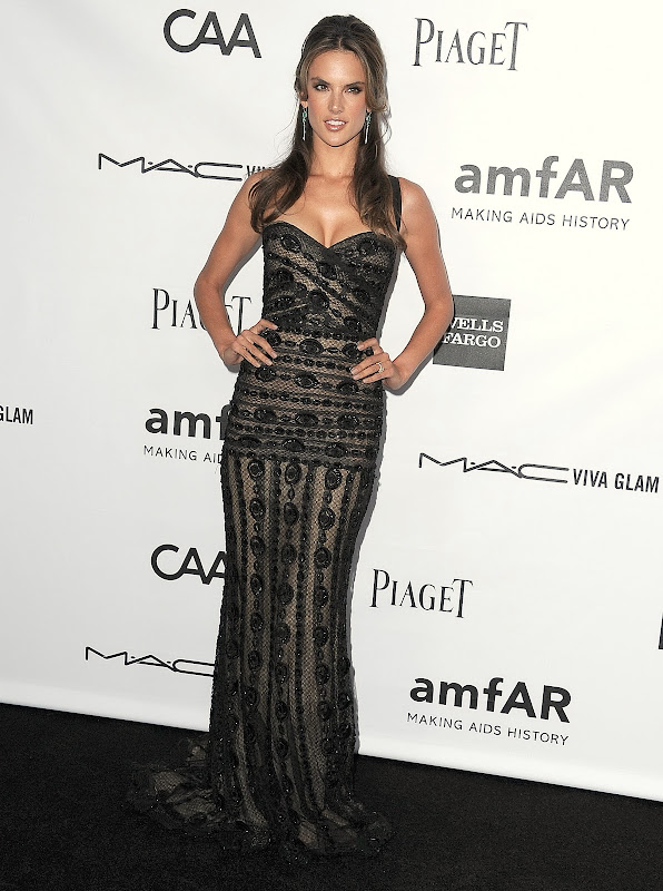 Alessandra Ambrosio wearing   Zuhair Murad Spring 2012 Couture gown