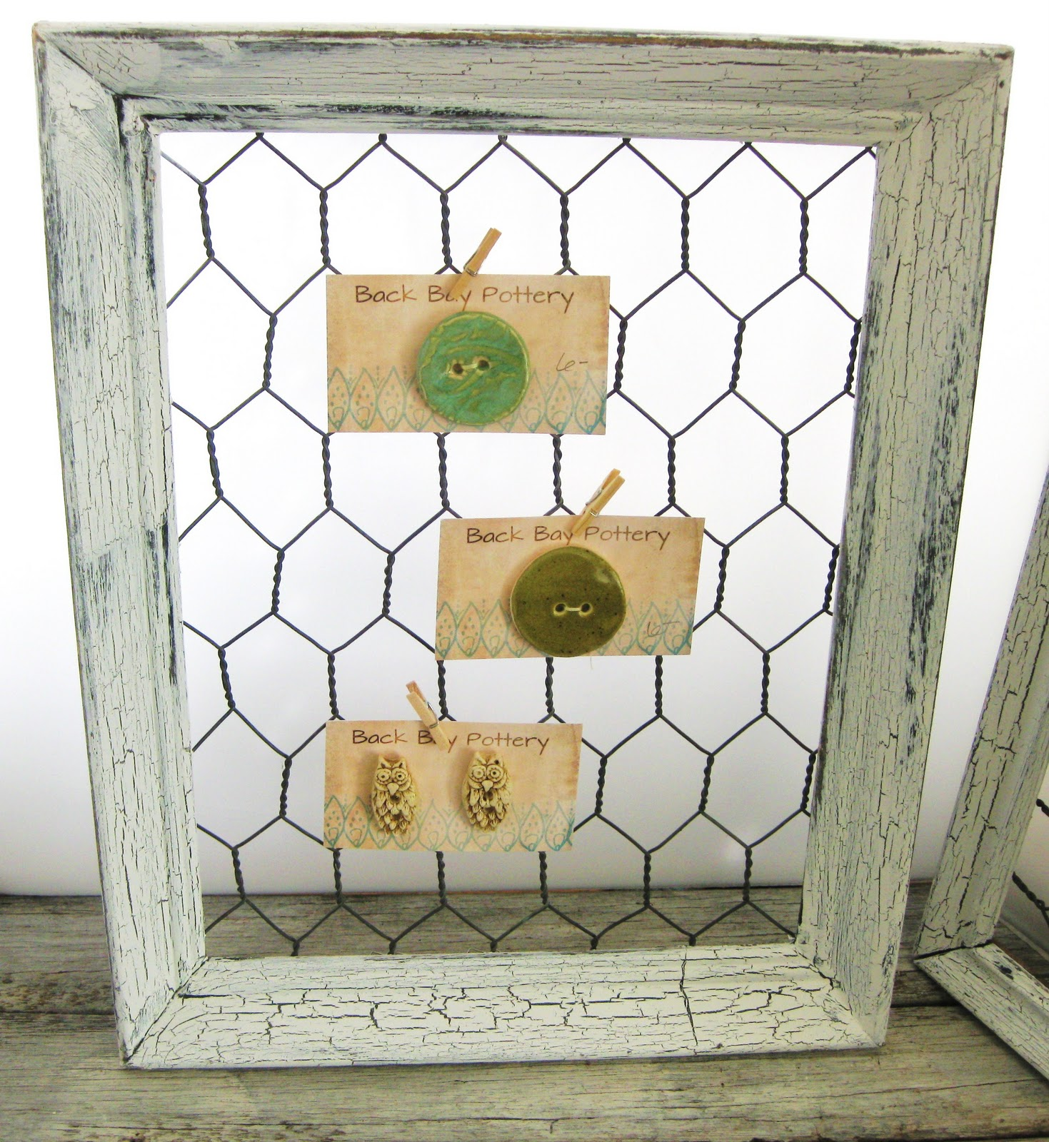 Back bay pottery make a shabby chic chicken wire frame for A frame chicken