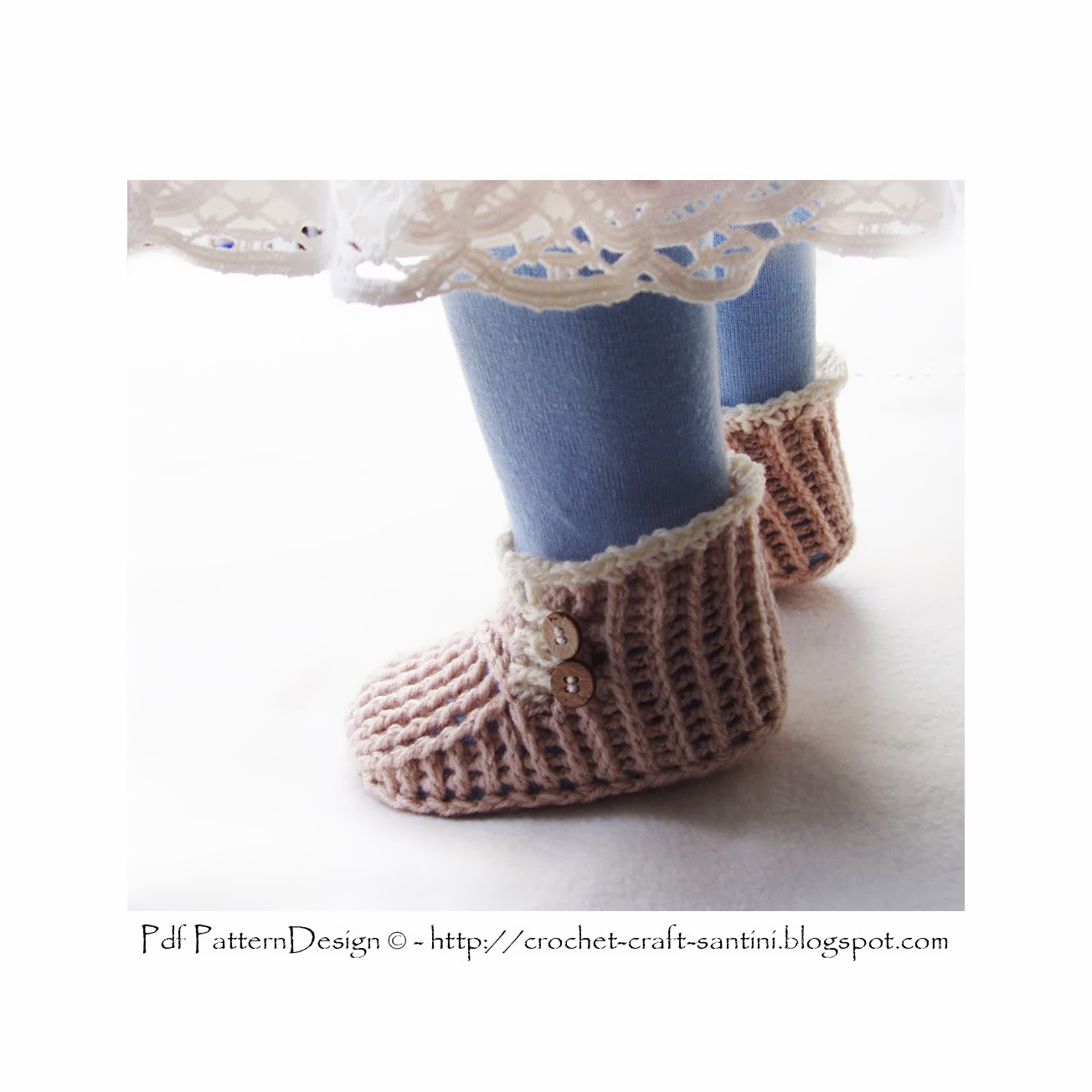 Crochet Wrap Around Button Baby Boots Pattern : Sophie and Me: WRAP AND BUTTON - BABY BOOTIES CROCHET PATTERN!