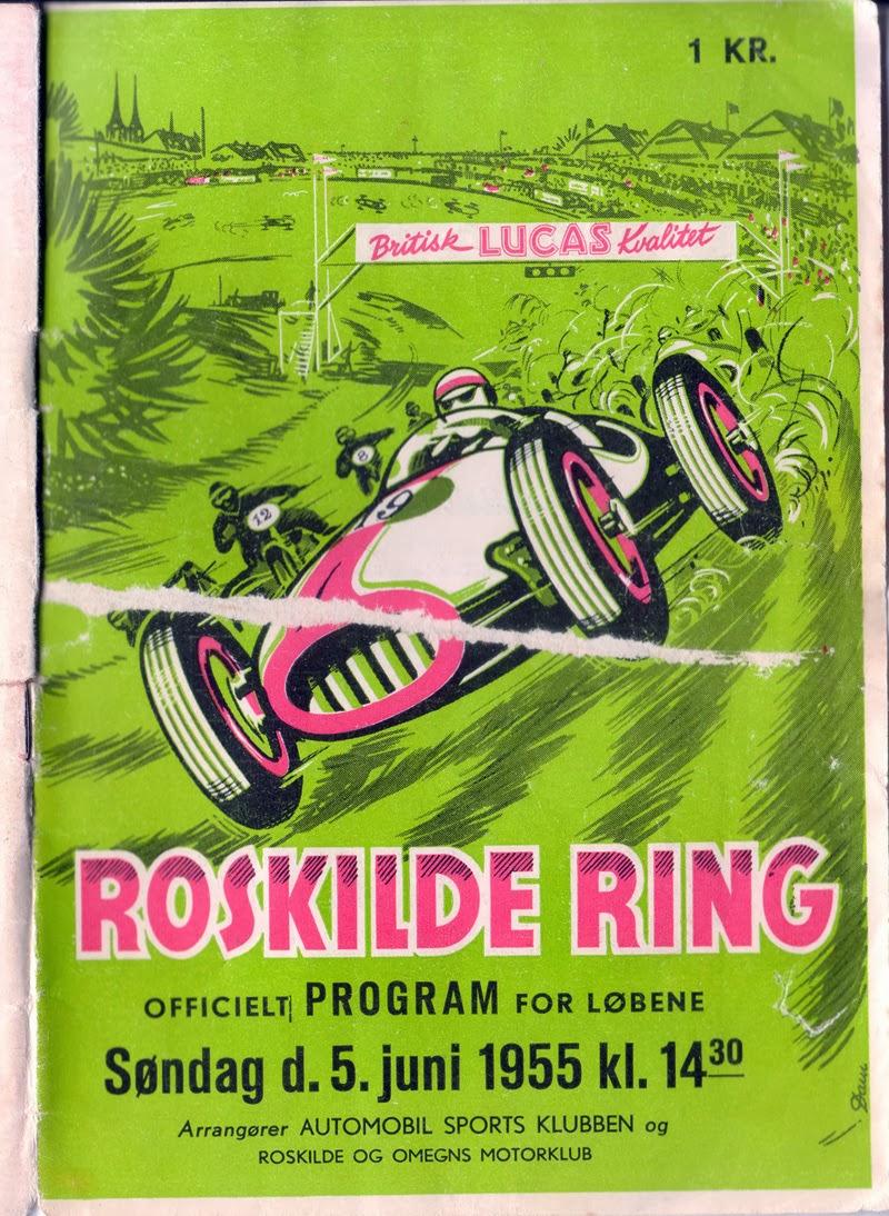 Forsiden af programmet til Åbningsløbet i 1955