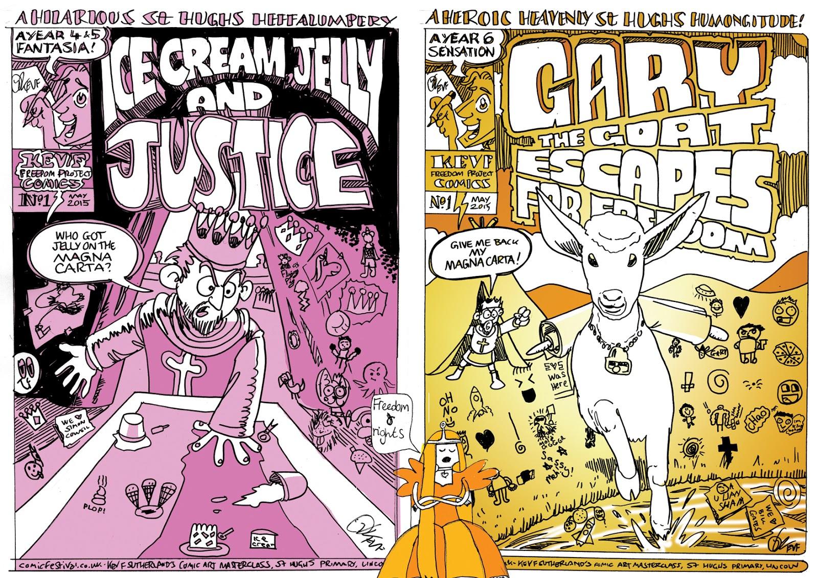 Kev F comic art: Ice Cream, Jelly & Justice - comics by kids ...