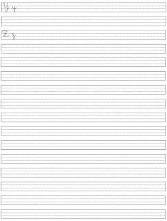 Atividade de Caligrafia - Alfabeto Caligrafia - Como melhorar a caligrafia - Y ao Z