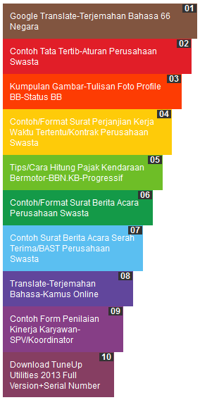 Cara Membuat Popular Pos Warna Warni - CSS Rainbow Popular Post