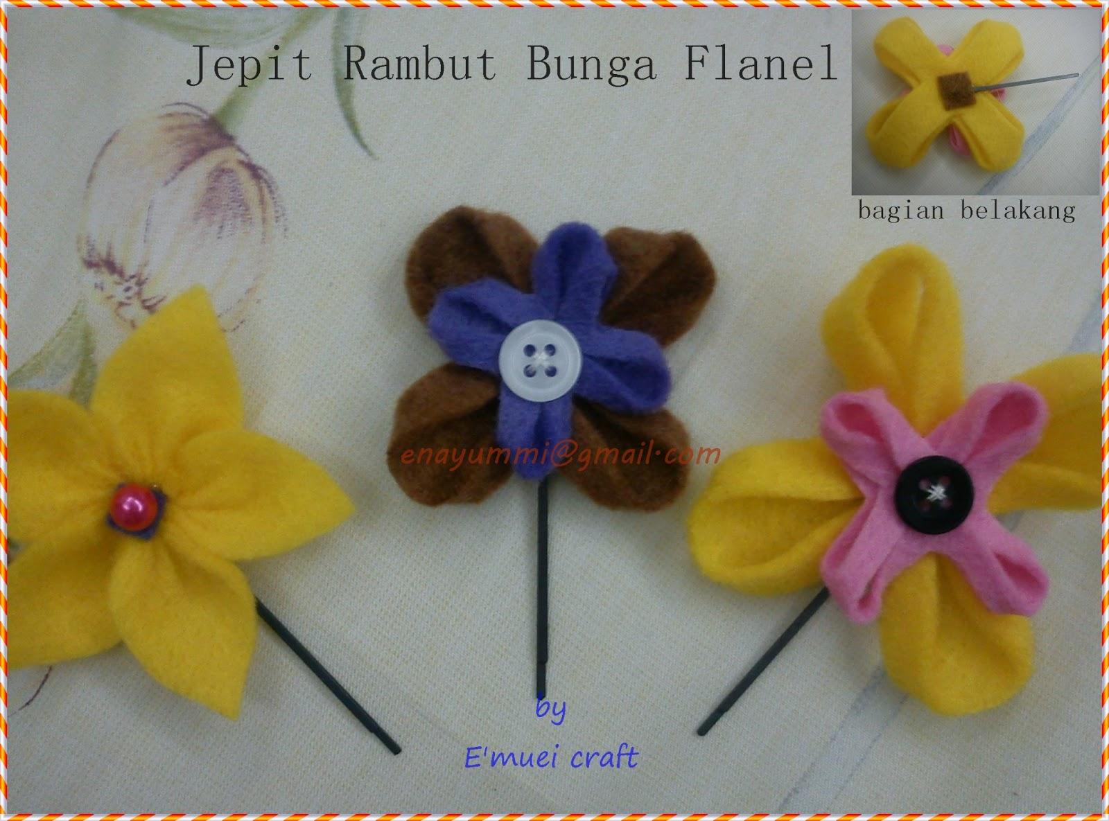 Bros Bunga dari kain Flanel
