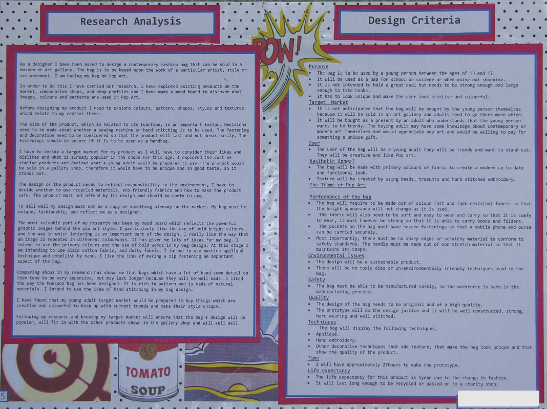 Textiles GCSE – coursework writing templates, theory sheets, example sheets and task instruction