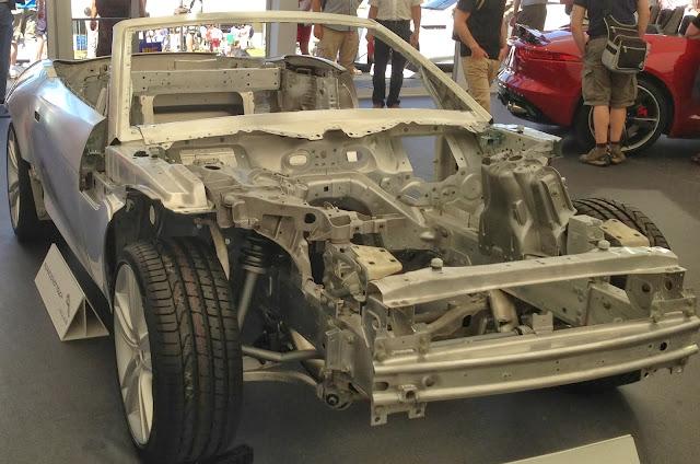 Jaguar F-Type aluminium chassis
