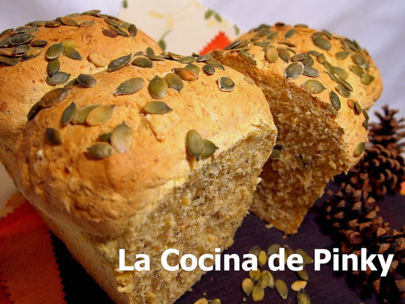 PAN DE CALABAZA Y SEMILLAS  Pan+de+calabaza+y+semillas+1