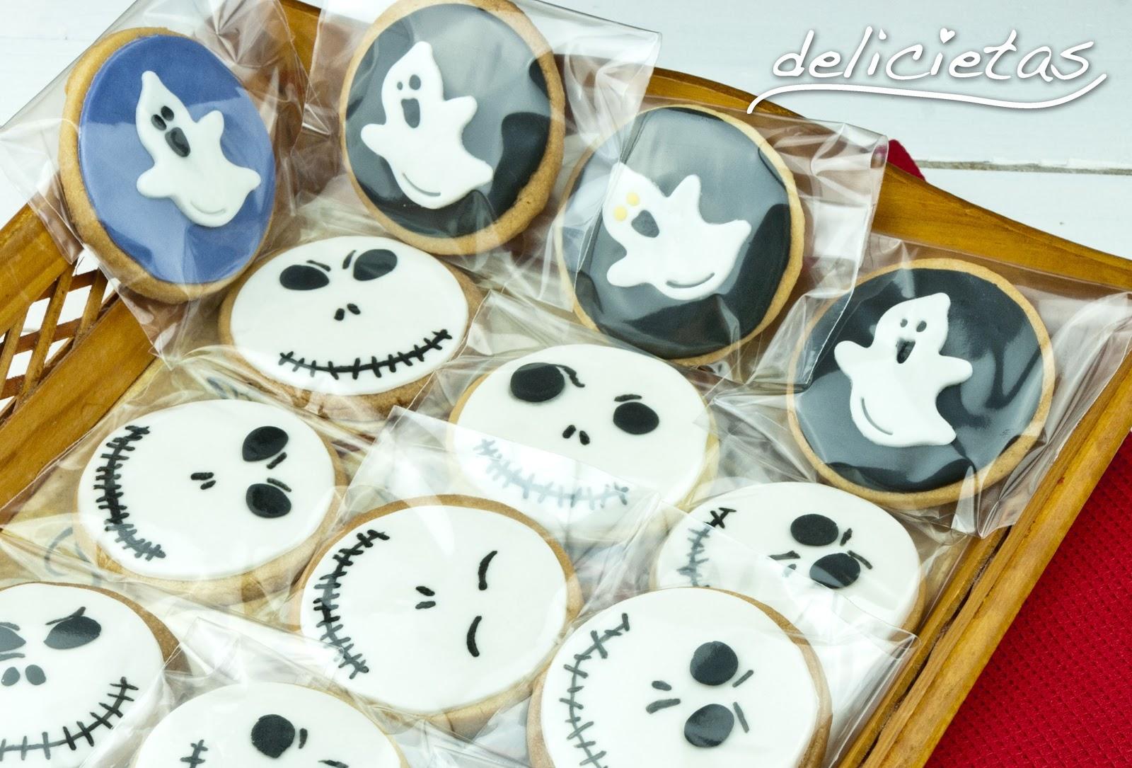 wwwdelicietases Galletas decoradas con fondant para Halloween