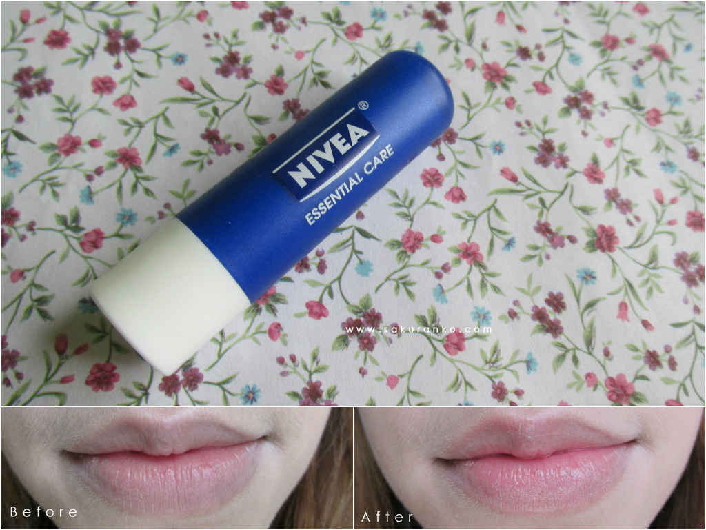 Sakuranko Nivea Essential Care Lip Balm 48g Before And After
