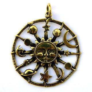 купить бронзовый кулон солнце планеты круглый украина