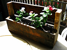 Workshop Wall Mounted Planter Box - Wood Pallet