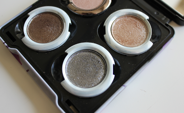 Urban Decay make create your own palette Moondust eyeshadows Diamond Dog Space Cowboy Moonspoon