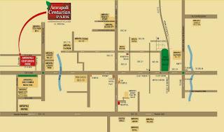 Amrapali Centurian Park :: Location Map