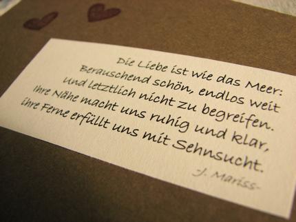Im Innenteil Der Karte Habe Ich Einen Schönen Spruch Von Jochen Mariss  Verwendet.