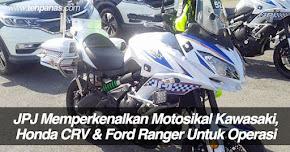 Thumbnail image for JPJ Memperkenalkan Motosikal Kawasaki Berkuasa Tinggi, Honda CRV & Ford Ranger