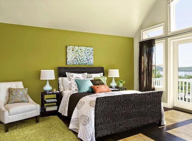 bedroom paint color schemes green