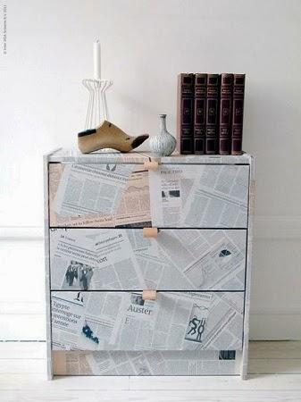 Renueva tus Muebles con Papel de Diario Reciclado