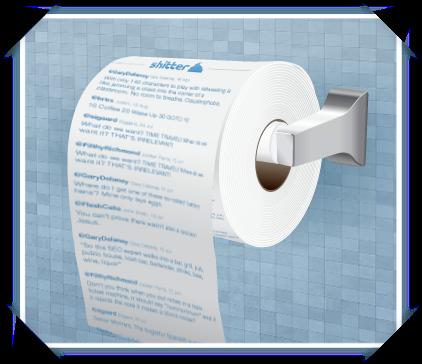 Shitter twitter papel higiénico