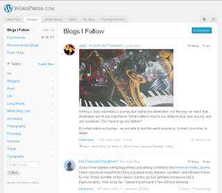 WordPress Reader Page