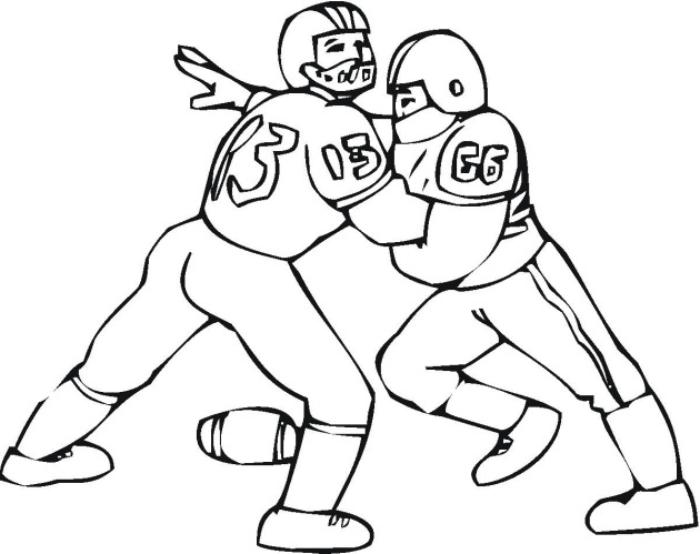 Delicate image inside free printable football coloring pages