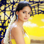 Anushka in Yellow Saree Cute Pictures