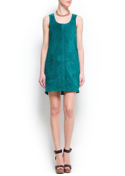 cepli yeşil elbise