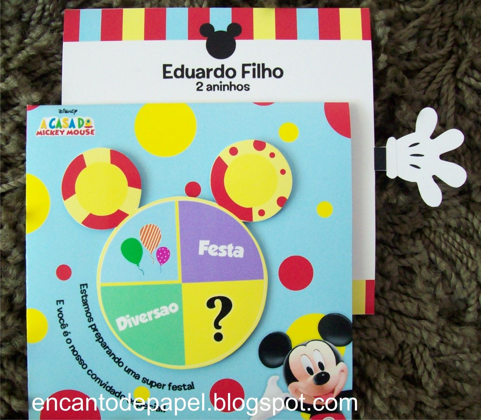 Convite   A Casa Do Mickey Mouse