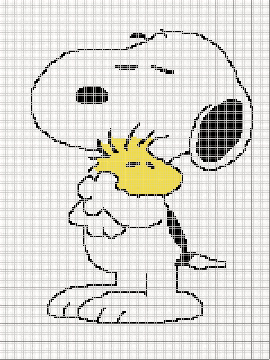 Kendra\'s Crocheted Creations: Free Snoopy graph
